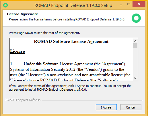 Установка Romad Endpoint Defense